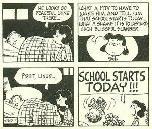 Back to School Peanuts 1