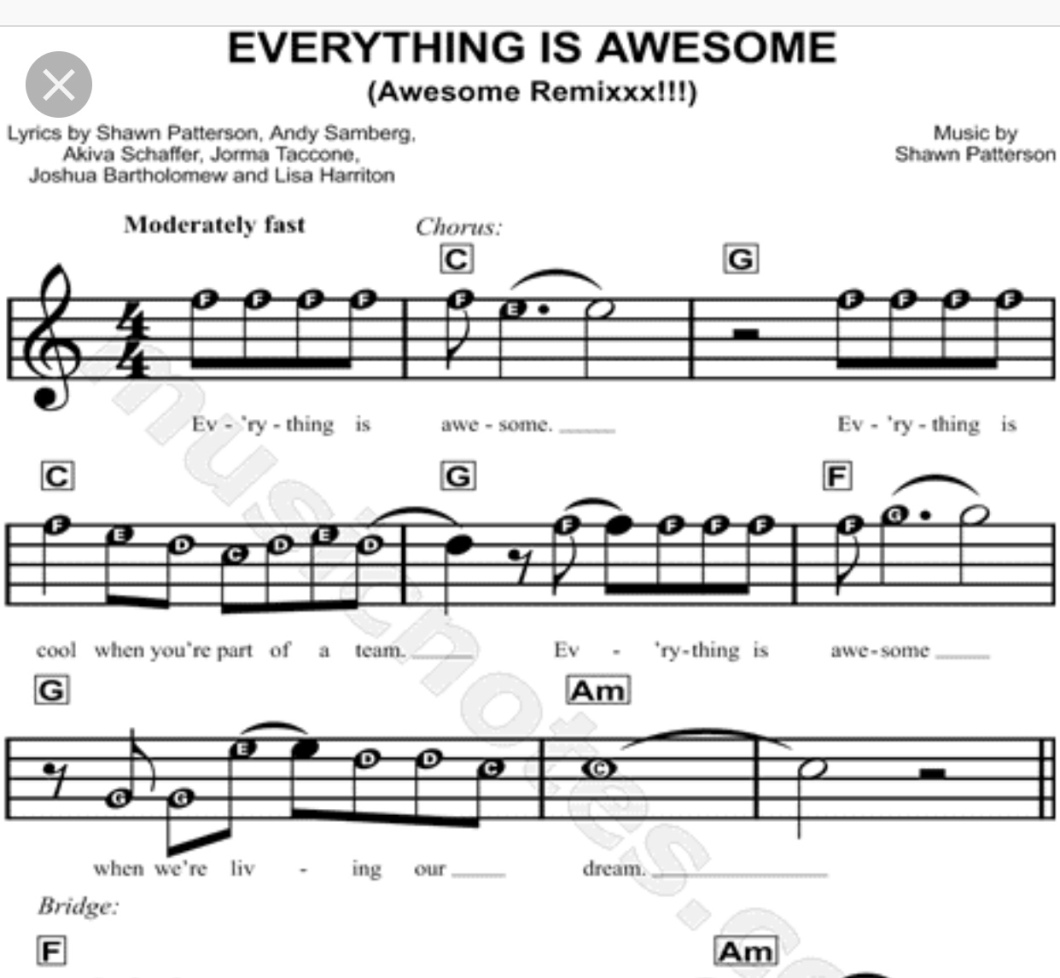 Everything Is Awesome C Scale Notes & Free Xylophone App